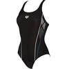 arena Skid One Piece Swimsuit Women black/turquoise/white